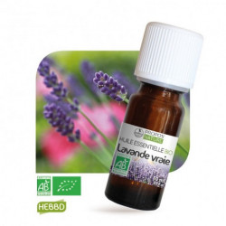 Lavande fine ( vraie) de Provence , huile essentielle bio, flacon de 10 ml