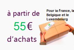 Livraison gratuite à partir de 55€ d'achats